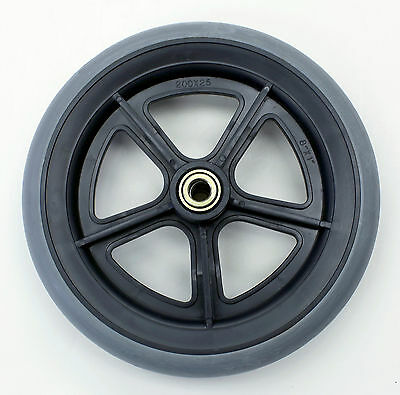 """Invacare Wheelchair Parts 8""""x1"""" Front Caster 7/16"""" Grey Tire C81BG-716 1 pc New"""