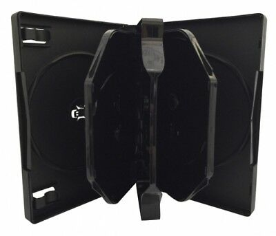 (SAMPLE) - 1 Black 8 Disc DVD Cases /w Patented M-Lock Hub