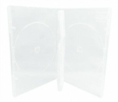 (SAMPLE) - 1 STANDARD Clear Quad 4 Disc DVD Cases /w Patented M-Lock Hub