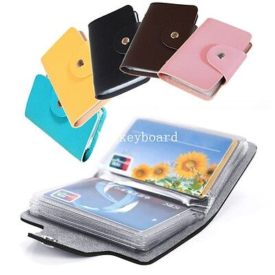 Kate spade id business wallet credit cards card holder case gusset new 24 cards pu leather credit id business card holder pocket wallet case reheart Image collections