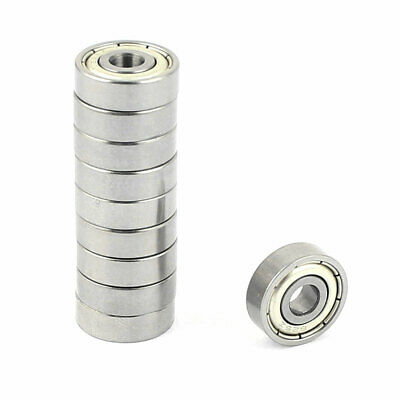 10 Pcs 5mm x 16mm x 5mm Metal Sealed Shielded Deep Groove Ball Bearing