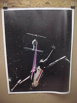 STAR WARS, orig rolled promo poster [X-wing in dogfight near Death Star]