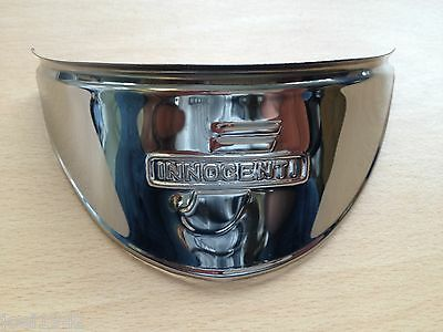 Stainless Steel Headlight Peak. Innocenti Embossed. For Lambretta Series 3