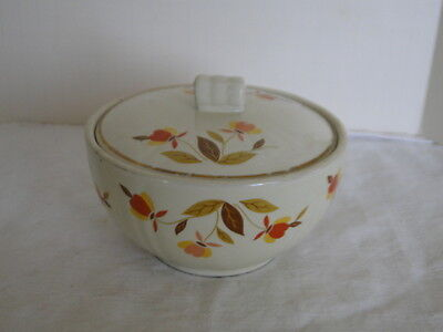 Hall China Jewel Tea Autumn Leaf Small Grease Bowl with Lid