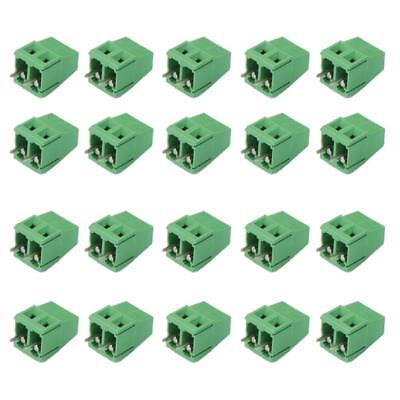 20pcs 2Pin Plug-in Terminal Block DG128 Screw Pitch 5.0MM 300V/10A for PCB