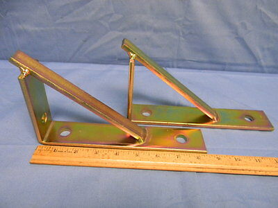 "2 NEW Superstrut S-204 8-1/2"" Steel Bracket w/Gold Finish Corrosion Reisistant"