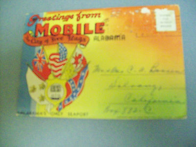 Greetings From Mobile Alabama The Cityof Five Flags 1937