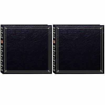 "Pioneer 300 Pocket Post Bound Black Photo Album for 4""x6"" Prints - Two Pack"