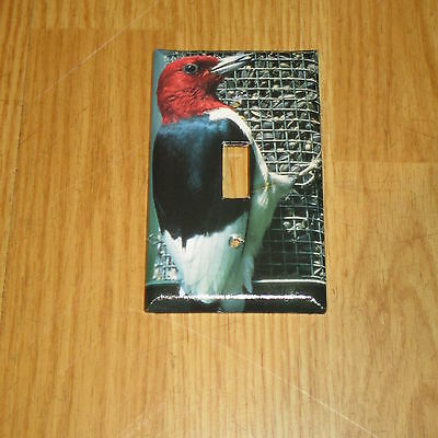 Red Headed Woodpecker Wild Bird Light Switch Cover Plate