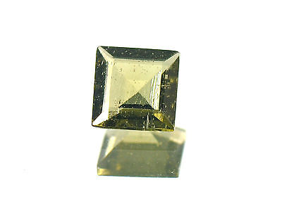 0.85cts SQUARE standart cut 6x6mm moldavite faceted cutted gem BRUS1154