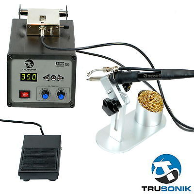 Rework Soldering Station Iron Welder Digital Automatic Feed Kit Gun Hot Air 2 E