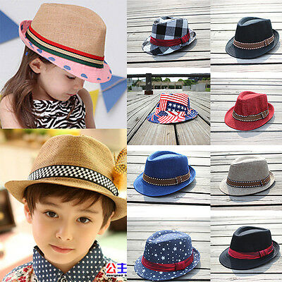 Baby Girl Boy Toddler Fedora Hat Jazz Cowboy Cap Photography Trilby Winter Warm