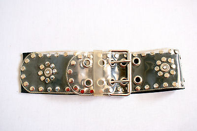 Vintage Elasticated Belt Indie Retro Boho 8 - 14