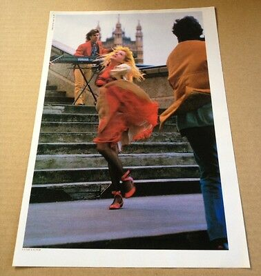 1987 Cyndi Lauper JAPAN mag photo pinup / mini poster / vintage clipping c01r