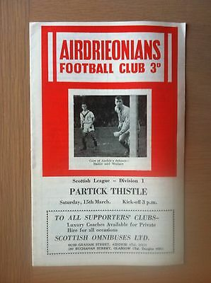 Airdrieonians V Partick Thistle 1957-58