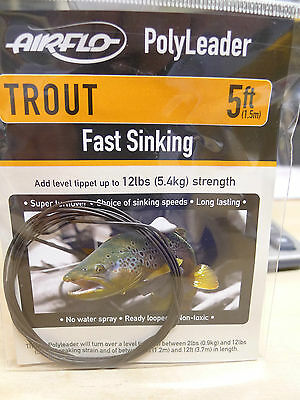 AIRFLO Polyleader TROUT 5ft /1,50 Mtr. FAST SINKING