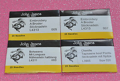 Quality New John James sewing needles