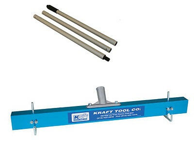 KRAFT 24 inch Gauge Rake Set WITH 3 Piece Handle for Self Levelling Compounds