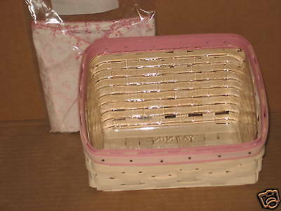 Longaberger Horizon of Hope Note Card Basket Combo with liner protector MINT!