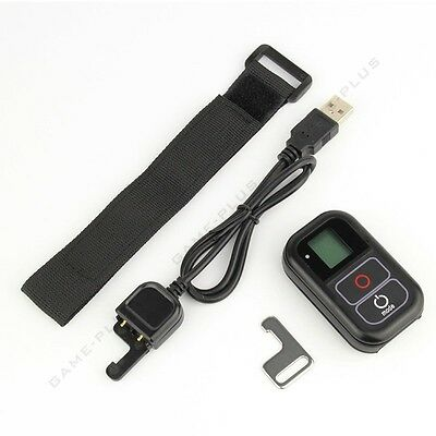 Wireless WiFi Remote Control + Charge Cable + Wrist Belt for GoPro Hero 5 4 3+ 3