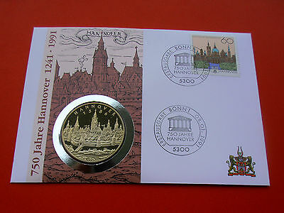 * Numisbrief 1991 mit Medaille *Hannover