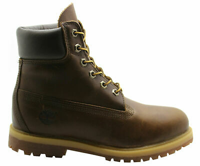 Timberland 6 Inch Premium Womens Boots Brown Leather Casual 8232A D93/D96
