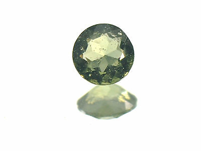 0.38cts ROUND standart cut 5mm moldavite faceted cutted gem BRUS1164