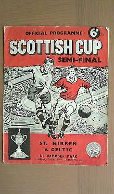 St. Mirren V Celtic 1958-59