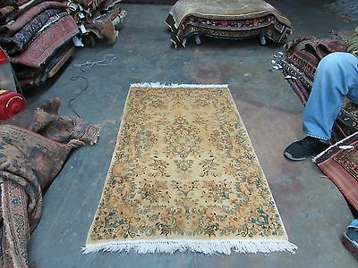 Semi Antique Persian Kerman Rug 3'x5' Hand Knotted Wool