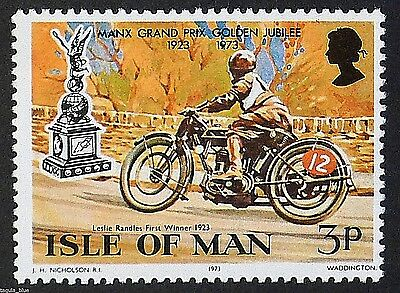 Leonard Randles 1st winner Manx GP (1923) on Sunbeam motorcycle - U/M