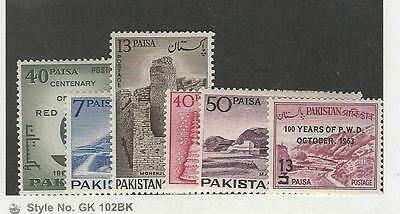 Pakistan, Postage Stamp, #179-184 Mint LH, 1963