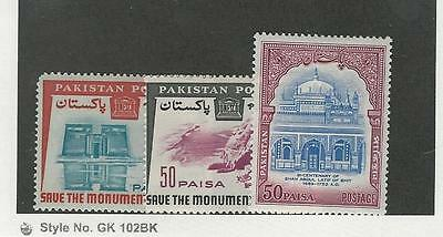 Pakistan, Postage Stamp, #204-205, 208 Mint LH, 1964