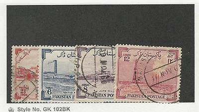 Pakistan, Postage Stamp, #73, 74-76 Used, 1955