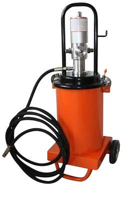Pro Grease Press Pneumatic Compressed Air Grease Gun Mobile 12 Liter Content