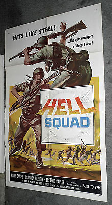 HELL SQUAD original 1958 WORLD WAR 2 movie poster one sheet 27x41 AIP