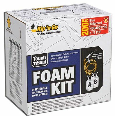 Touch N Seal U2-200 Fire Retardant Closed Cell Spray Foam Insulation Kit 200 BF
