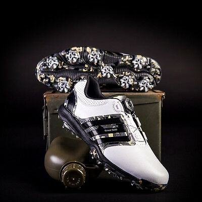 Adidas Tour 360 X Boa Golf Shoes Camo Limited Edition  Size:9.5 Wide  New! 15066