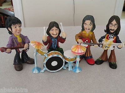 THE BEATLES FIGURES FIGURAS LENNON McCARTNEY HARRISON STARR PAUL JOHN GEORGE