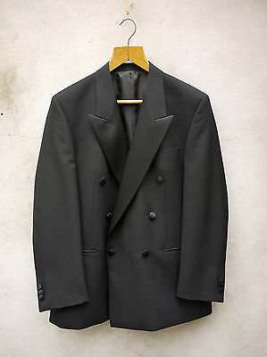 DOUBLE BREASTED DINNER JACKET WITH SATIN LAPELS SIZE 42 TO 48 available