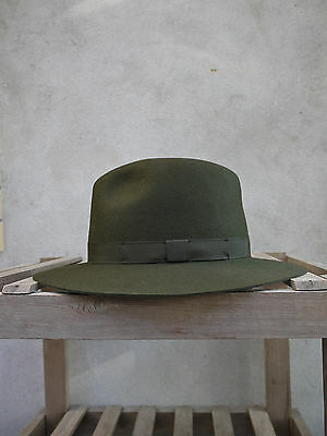 a9297b24908 CRUSHABLE TRILBY HAT by Olney in Olive Green - 100% Fur Felt
