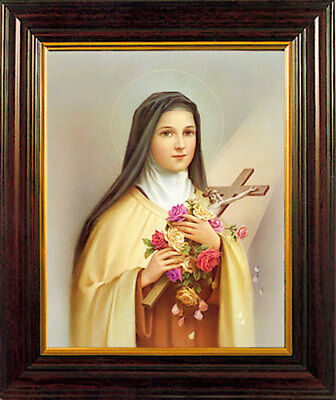SAINT THERESA FRAMED PICTURE - 100's OF RELIGIOUS STATUES AND CANDLES LISTED