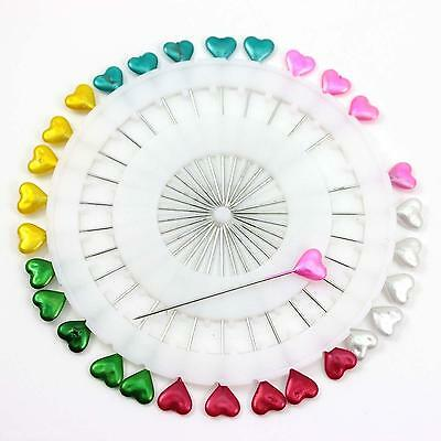 30pcs 5.5cm Sewing Knitting Colors Heart Head Type Lovely Needle Pins Accessory