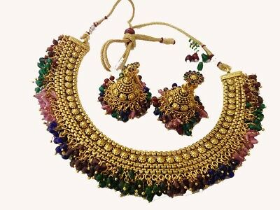 indian fashion jewelry coin Necklaces earring  jhumki bollywood gold traditional