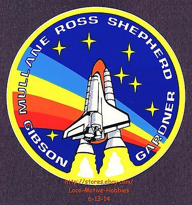 LMH STICKER Decal NASA STS-27 SPACE SHUTTLE Atlantis '88 Mission Ross TEN 10 Lot