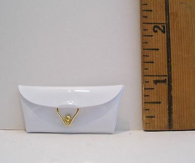 Mattel Repro Reproduction Barbie Doll White Clutch Purse New From Box