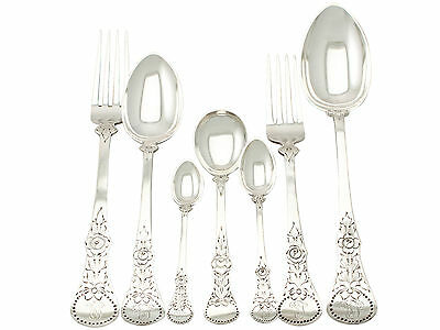 Antique Norwegian Silver Canteen of Cutlery for Six Persons, Circa 1910