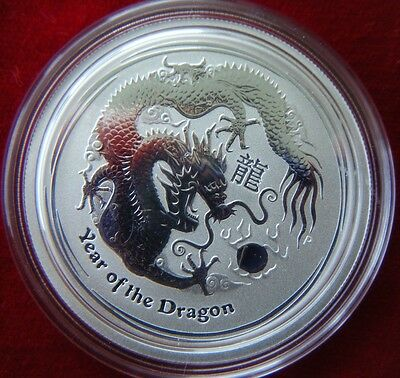 2012 Lunar Year of the Dragon Series II 1/2oz Silver Unc Coin Perth Mint