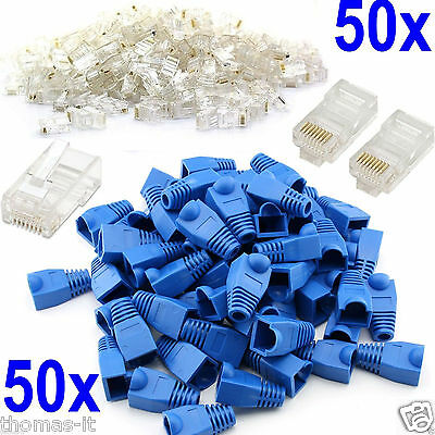 100x Network Ethernet RJ45 Cat5e Cat6 Cable End Patch Plug Connector Cover Boots