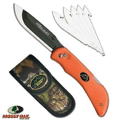 NEW Outdoor Edge Razor-Blaze Replaceable Blade Folding Knife & 6 Blades & Sheath