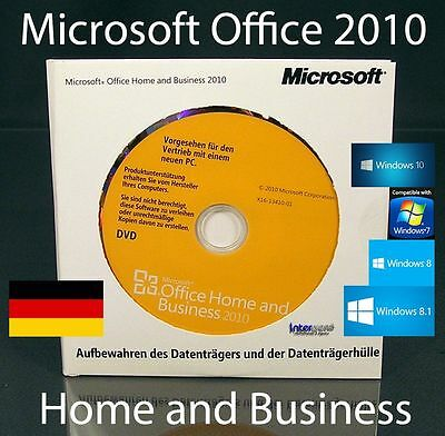 microsoft office home and business 2010 outlook excel word dvd de t5d 00163 eur 119 90. Black Bedroom Furniture Sets. Home Design Ideas
